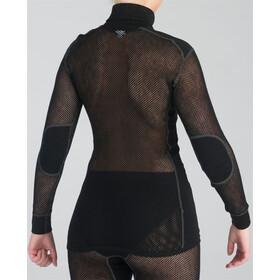Aclima Woolnet Polo Zip Women Black